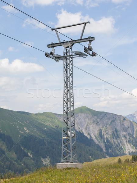 Pole of a ski lift Stock photo © michaklootwijk