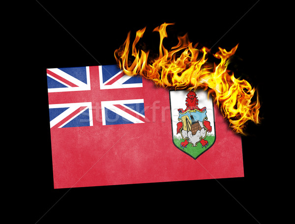 Flag burning - Bermuda Stock photo © michaklootwijk