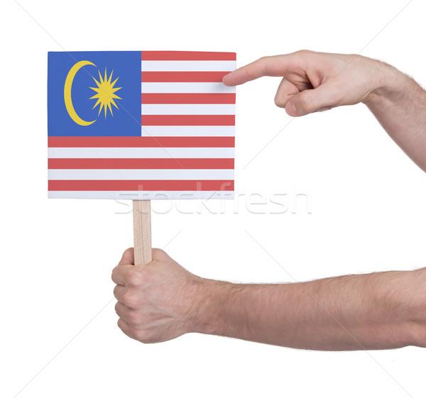 Mão pequeno cartão bandeira Malásia Foto stock © michaklootwijk