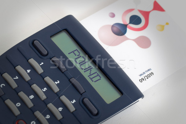Stock photo: Card reader for reading a bank card
