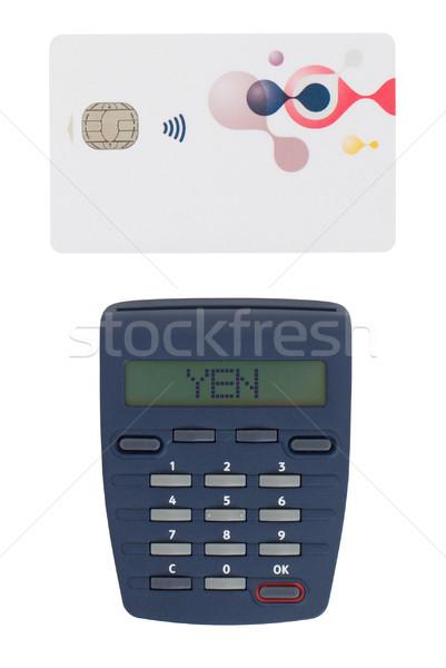 Cartão leitor leitura bancário casa Foto stock © michaklootwijk