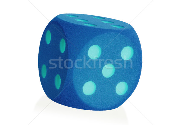 Large blue foam die isolated - 5 Stock photo © michaklootwijk