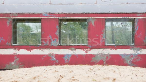 古い 列車 キャリッジ ラフ 砂の 地形 ストックフォト © michaklootwijk