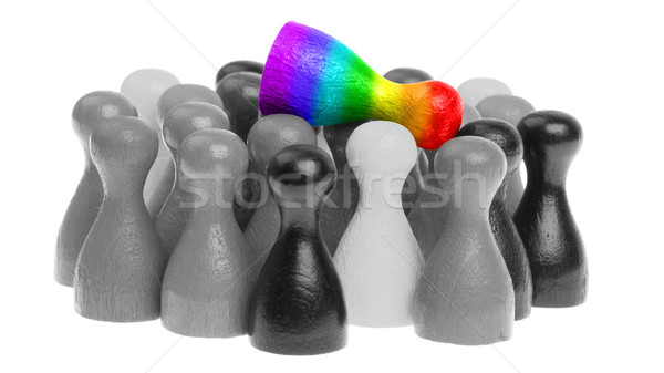 Pawn in the colors of the rainbow flag Stock photo © michaklootwijk