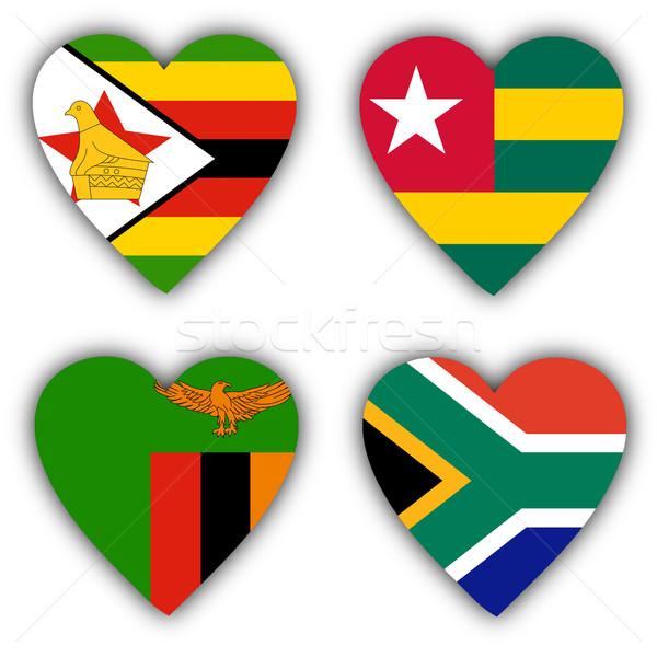 флагами форма сердце различный любви Сток-фото © michaklootwijk