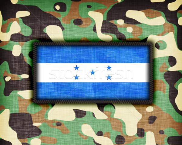 Amy camouflage uniform, Honduras Stock photo © michaklootwijk