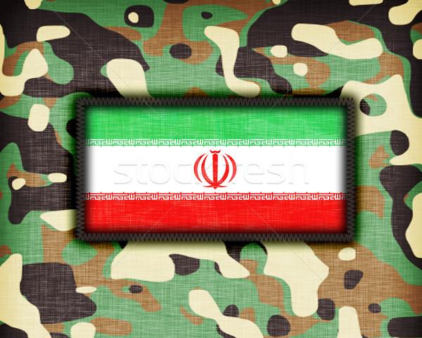 Camouflage uniform Iran vlag textuur abstract Stockfoto © michaklootwijk