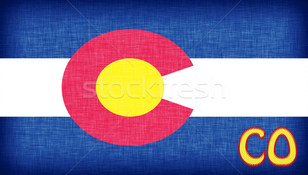 Linen flag of the US state of Colorado Stock photo © michaklootwijk