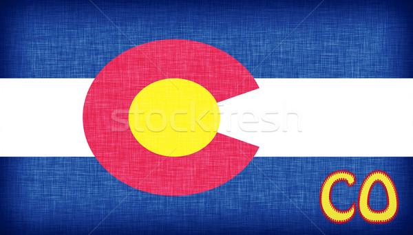 Vászon zászló Colorado rövidítés textúra szövet Stock fotó © michaklootwijk