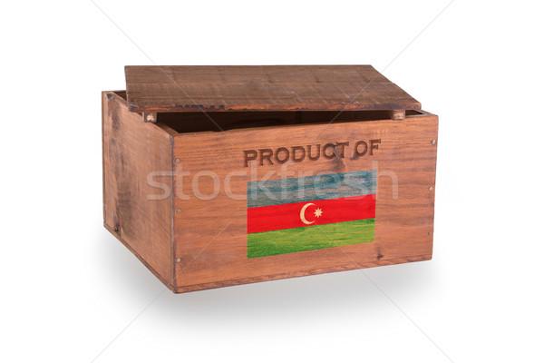 Stock fotó: Fából · készült · láda · izolált · fehér · termék · Azerbajdzsán