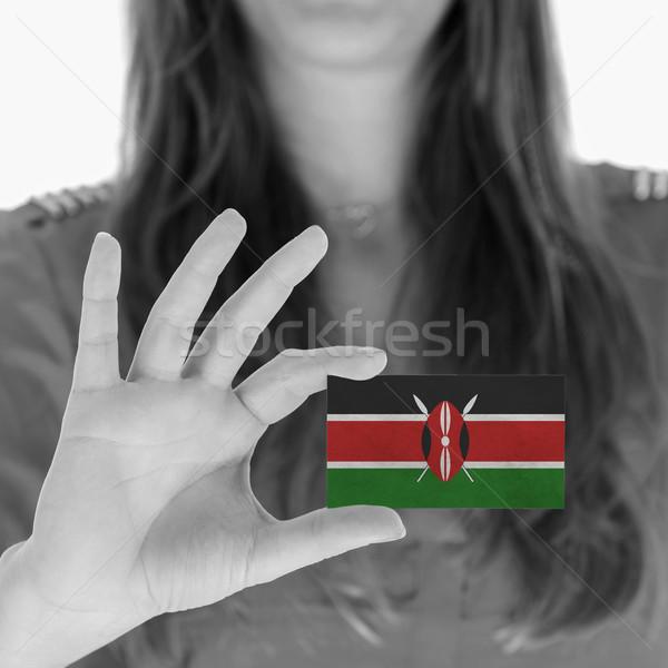 女性 名刺 黒白 ケニア スペース ストックフォト © michaklootwijk