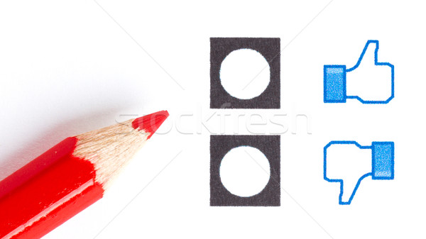 Kırmızı kalem doğru ruh hali gibi Stok fotoğraf © michaklootwijk