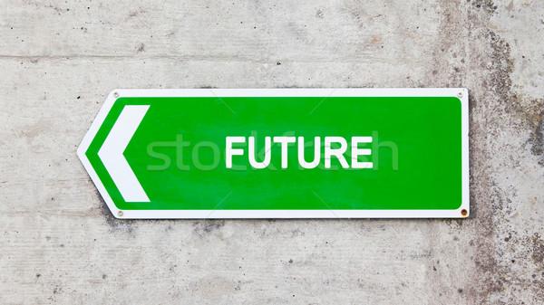 Green sign - Future Stock photo © michaklootwijk