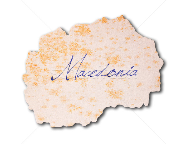 Old paper with handwriting - Macedonia Stock photo © michaklootwijk