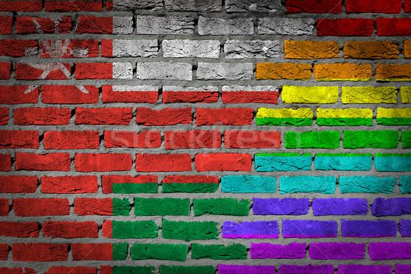 Dark brick wall - LGBT rights - Oman Stock photo © michaklootwijk