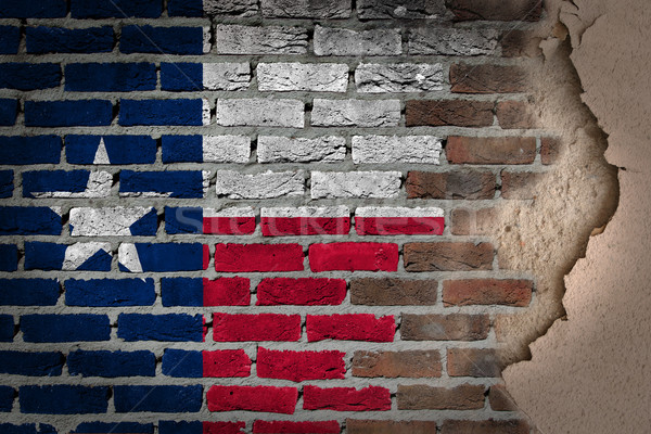 Dark brick wall with plaster - Texas Stock photo © michaklootwijk