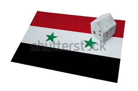 Vlag brandend Syrië oorlog crisis brand Stockfoto © michaklootwijk