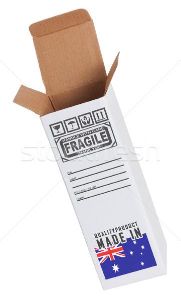エクスポート 製品 オーストラリア 紙 ボックス ストックフォト © michaklootwijk