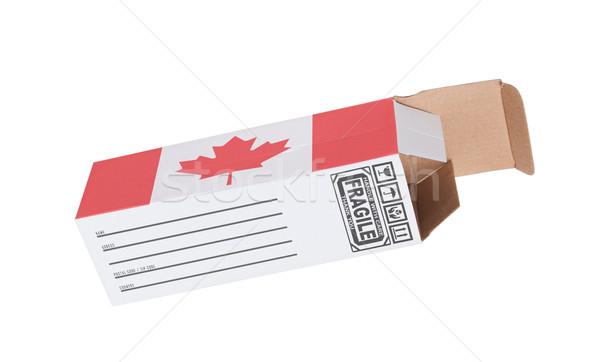Concept of export - Product of Canada Stock photo © michaklootwijk
