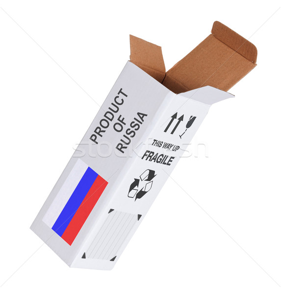 Concept of export - Product of Russia Stock photo © michaklootwijk