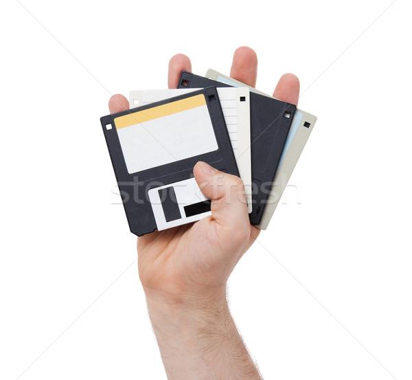 Disk destek yalıtılmış beyaz ofis Stok fotoğraf © michaklootwijk