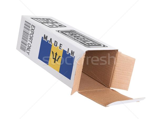 エクスポート 製品 バルバドス 紙 ボックス ストックフォト © michaklootwijk