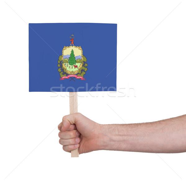 Mão pequeno cartão bandeira Vermont Foto stock © michaklootwijk