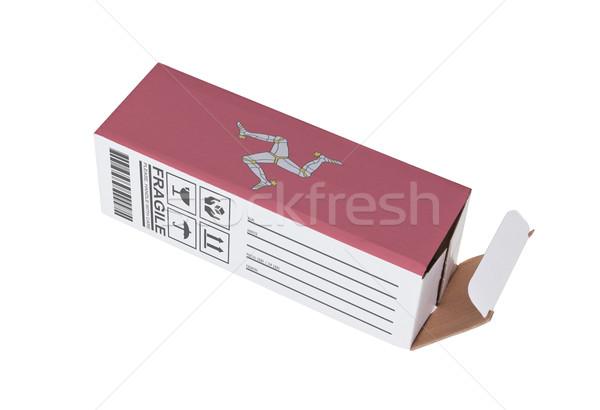 Exporter produit homme papier boîte Photo stock © michaklootwijk