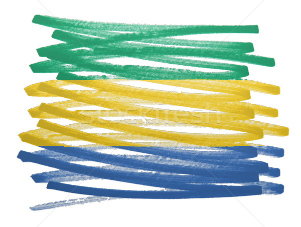 флаг иллюстрация Габон пер бизнеса краской Сток-фото © michaklootwijk
