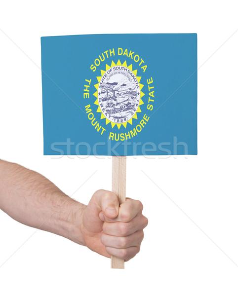 El küçük kart bayrak Güney Dakota Stok fotoğraf © michaklootwijk