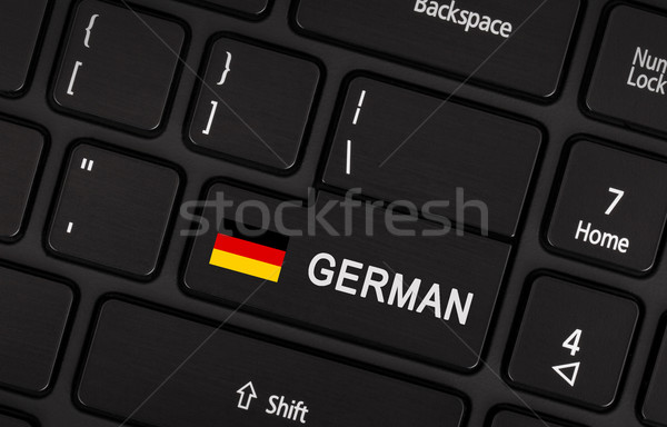 Enter button with flag Germany - Concept of language Stock photo © michaklootwijk