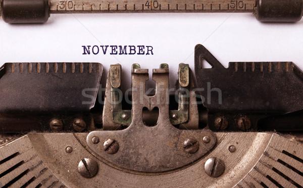 Old typewriter - November Stock photo © michaklootwijk