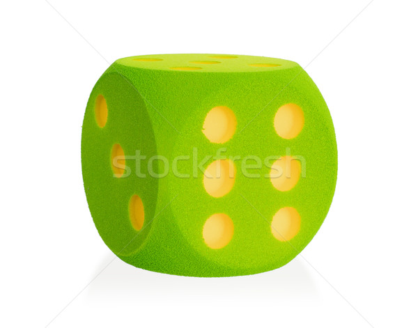 Large green foam die isolated - 6 Stock photo © michaklootwijk