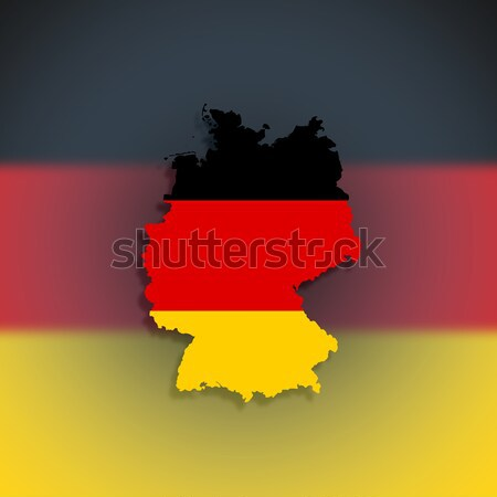 地図 連邦政府の 共和国 ドイツ フラグ 孤立した ストックフォト © michaklootwijk