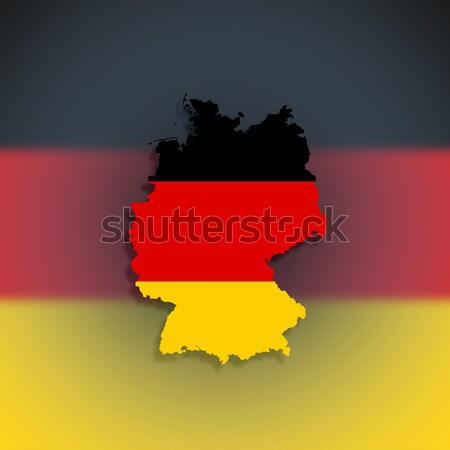 Harita federal cumhuriyet Almanya bayrak yalıtılmış Stok fotoğraf © michaklootwijk