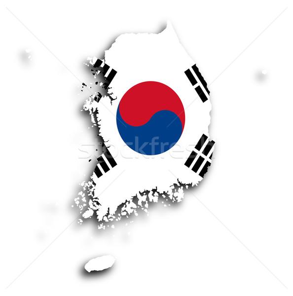 Map of South Korea isolated Stock photo © michaklootwijk