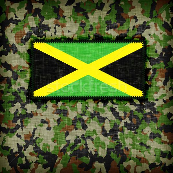 álca egyenruha Jamaica zászló textúra absztrakt Stock fotó © michaklootwijk