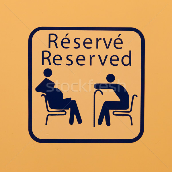 Reserved for pregnant women and the elderly Stock photo © michaklootwijk