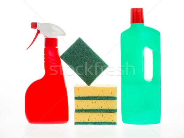Ház takarítás termék műanyag üvegek mosószer Stock fotó © michaklootwijk