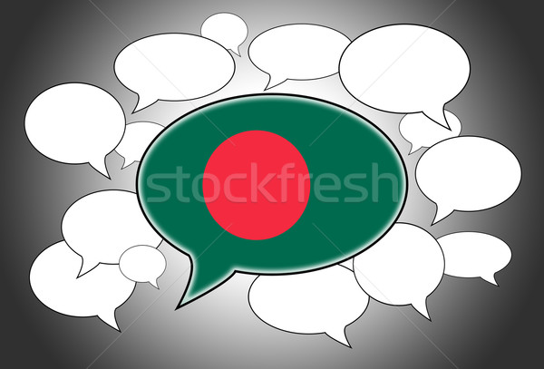 Stockfoto: Vlag · Bangladesh · achtergrond · ruimte · witte