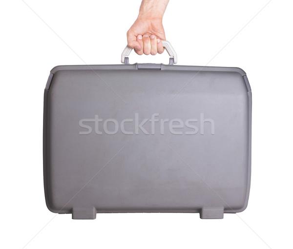 中古 プラスチック スーツケース ビジネス デザイン ストックフォト © michaklootwijk