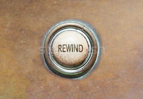 Old button - rewind Stock photo © michaklootwijk