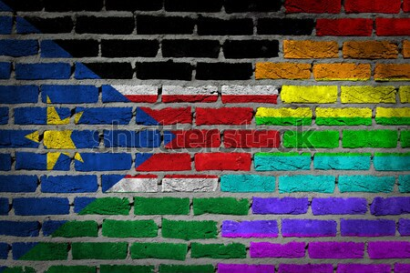 Dark brick wall - LGBT rights - Chile Stock photo © michaklootwijk