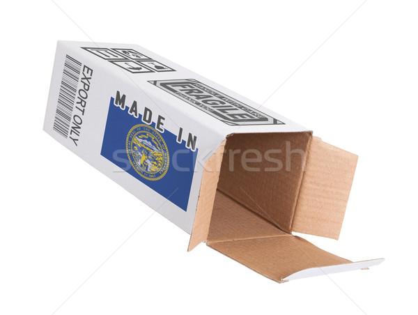Exportar produto Nebraska papel caixa Foto stock © michaklootwijk
