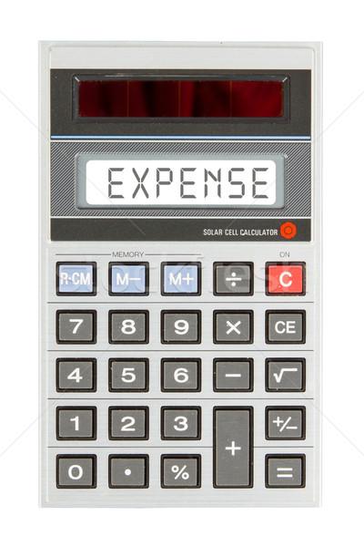 старые калькулятор расходы текста отображения Сток-фото © michaklootwijk