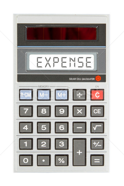 Velho calculadora despesas texto exibir Foto stock © michaklootwijk