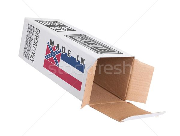 Export termék Mississippi kinyitott papír doboz Stock fotó © michaklootwijk