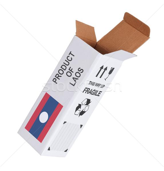 Exporteren product Laos papier vak Stockfoto © michaklootwijk