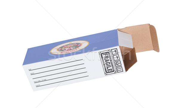 Export termék Minnesota kinyitott papír doboz Stock fotó © michaklootwijk