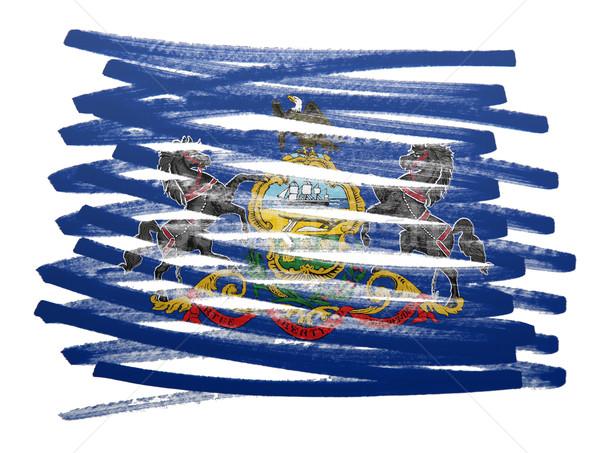 Bandeira ilustração Pensilvânia caneta negócio pintar Foto stock © michaklootwijk